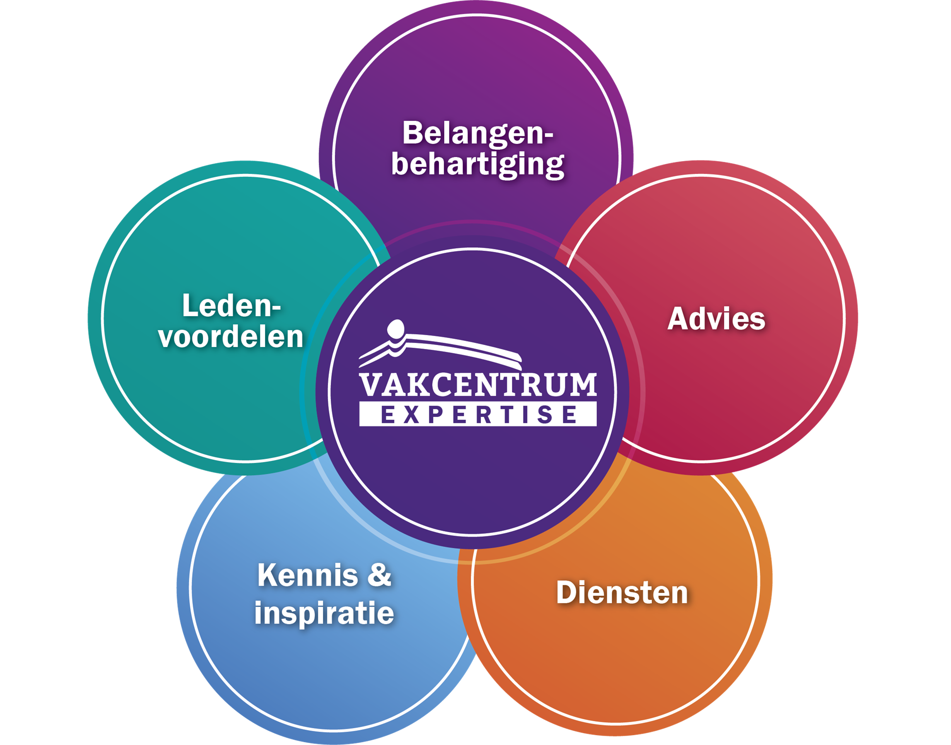 Vakcentrum Expertise 5 thema's-visual
